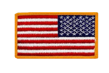 U.S. Flag Patch Reversed gold edge- color
