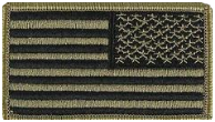 U.S. Flag Patch- Reversed Tactical w/hook closure- OCP