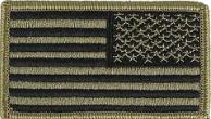 U.S. Flag Patch- Reversed Tactical w/hook closure- OCP