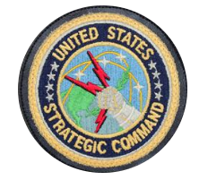 United States Strategic Command Patch- w/hook closure- leather