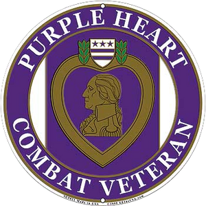 PURPLE HEART Aluminum Sign