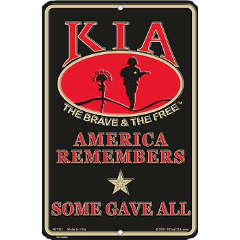 "8"" x 12""  KIA HONOR  Aluminum Sign"