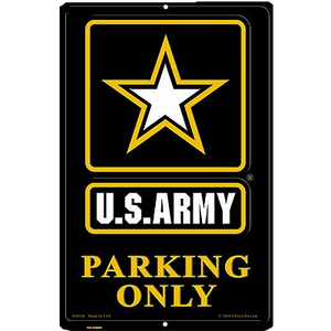 "12"" x 18"" U.S.ARMY PARKING  Aluminum Sign"