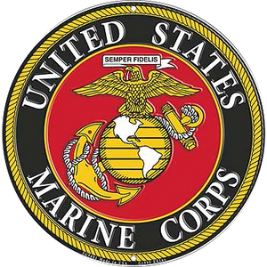"12"" U.S. MARINES LOGO  Aluminum Sign"