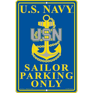 "8"" x 12"" U.S. NAVY PARKING Aluminum Sign"
