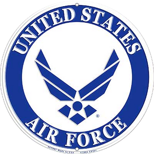 "12"" U.S. AIR FORCE SEAL Aluminum Sign"