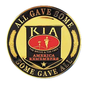 "4"" Honor Medallion- KIA Some Gave All"
