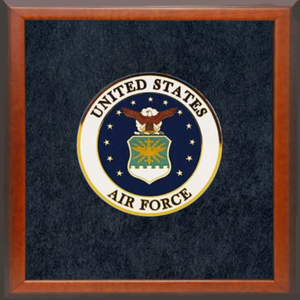 "4"" Honor Medallion- US Air Force Seal- Framed"