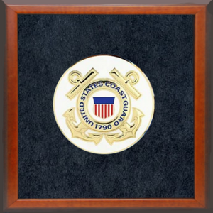 "4"" Honor Medallion- USCG Seal- Framed"