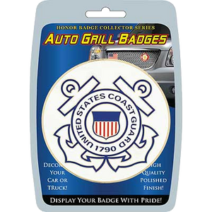Car/Truck Grill Badges- U.S. Coast Guard Seal 3""
