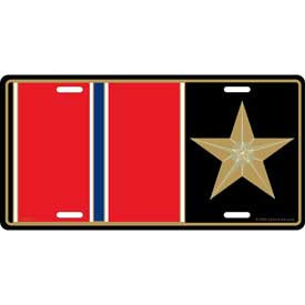 License Plate- Bronze Star Medal