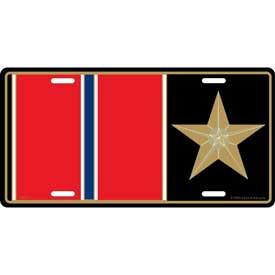 License Plate- Bronze Star Medal
