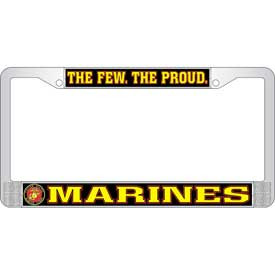 License Plate Frame- Marines The Few The Proud