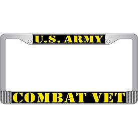 License Plate Frame- U.S. Army Combat Vet