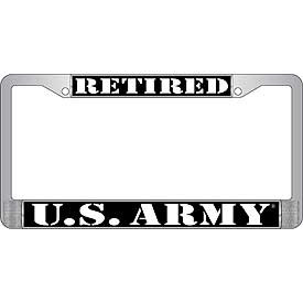License Plate Frame- U.S. Army Retired