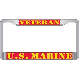 License Plate Frame- U.S. Marines Veteran