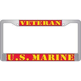 License Plate Frame- U.S. Marines Veteran