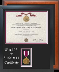 Meritorious Service Certificate Frame