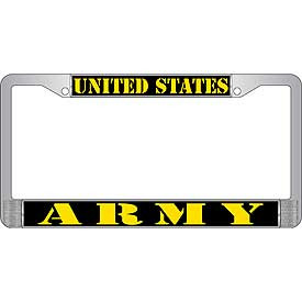 License Plate Frame- United States Army
