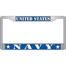 License Plate Frame- United States Navy