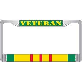 License Plate Frame- Veteran Vietnam Service