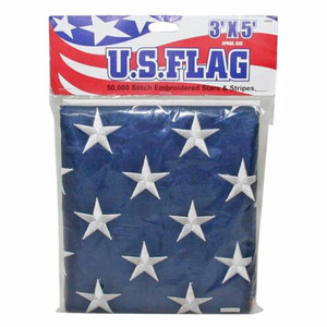 3' x 5' US Nylon Flag w/ Embroidered Stars