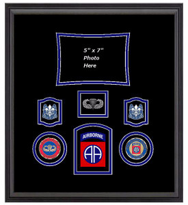 82nd Airborne Parachutist Shadow Box