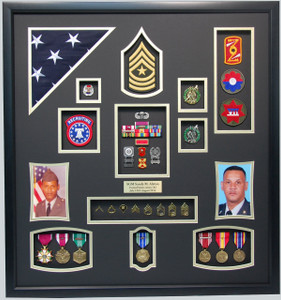 "27"" x 30"" US Army Recruiter Shadow Box"