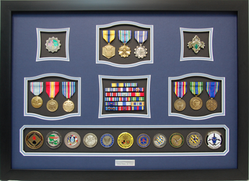 U.S. Air Force Shadow Box Display with Coins
