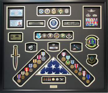 U.S. Air Force Special Ops Shadow Box Display with Dagger