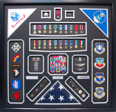 Dual Service Shadow Box Display Army and Air Force