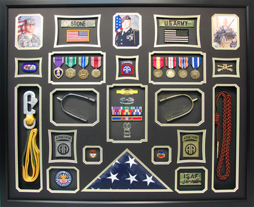 U.S. Army Cavalry Shadow Box with Spurs and Static Line