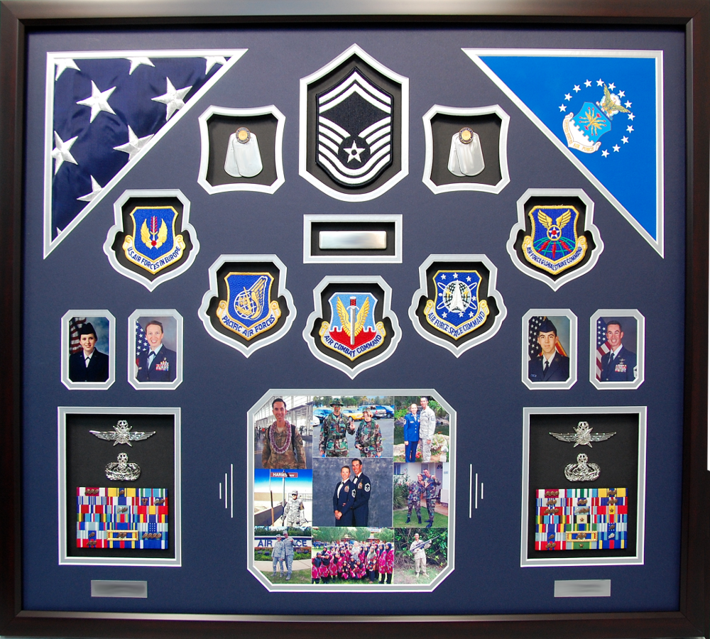 Us Air Force Couple Shadow Box Display