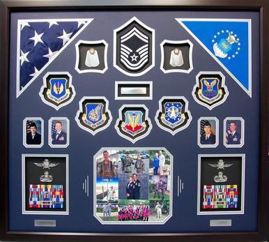 U.S. Air Force Couple Shadow Box Display