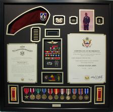 U.S. Army CW2 Retirement Shadow Box Display
