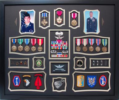 U.S. Army CW4 Shadow Box Display