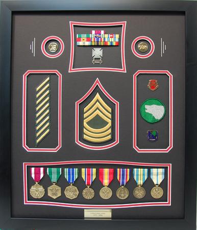 U.S. Army MSG Shadow Box Display