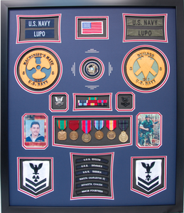 U.S. Navy Machinist Mate Shadow Box Display