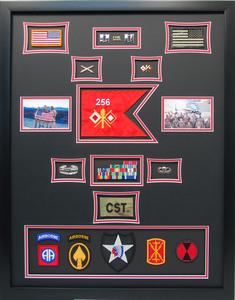 U.S. Army Signal Shadow Box Display with Guidon Flag