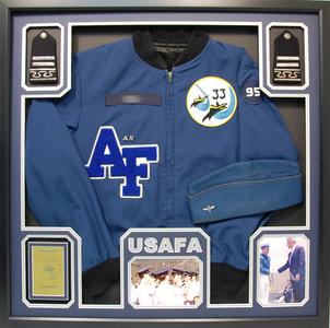U.S. Air Force Academy Jacket Shadow Box Display