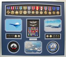 U.S. AIR FORCE FIGHTER PILOT SHADOW BOX DISPLAY
