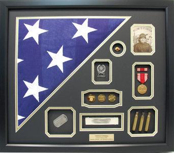 U.S. Army Burial Flag Shadow Box Display