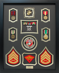 U.S. Marine Corps Staff Sergeant Shadow Box Display