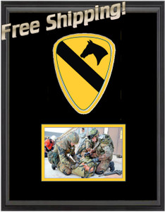 "11"" x 14"" 1st Cavalry Unit Frame w/ Photo"