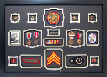 Veteran of Foreign Wars Shadow Box Display