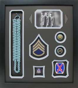 World War II Infantry Shadow Box Display
