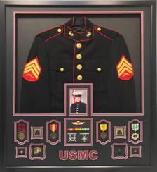 U.S. Marine Corps  Dress Uniform Shadow Box Display