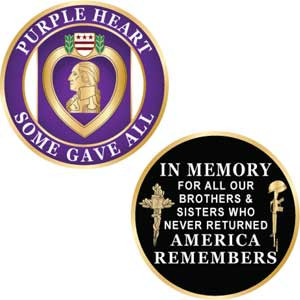 Purple Heart In Memory Challenge Coin