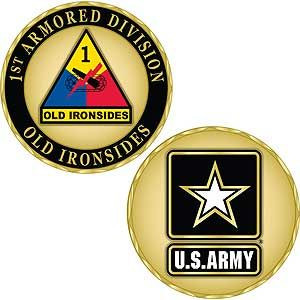 Army 1st Armored Division Challenge Coin
