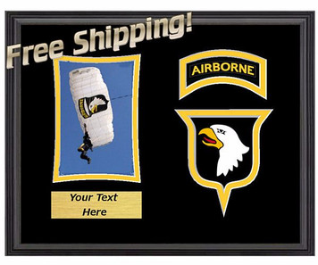 "11"" x 14"" 101st Airborne Horizontal Unit Frame w/ Photo"